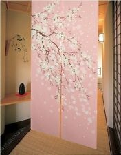 Romantic Blossom Oriental Cherry Sakura Japanese Noren Doorway Curtain E15
