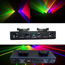 4 Lens 360mW RGYV DMX Laser Light Disco DJ  Stage Party Lighting