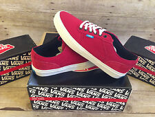 VANS BEDFORD LOW CANVAS BLOCK RED WHITE MENS SIZE 9 SKATE SHOES