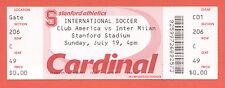 Orig.Ticket   19.07.2009 in den USA    CLUB AMERICA - INTER MAILAND  !!  SELTEN
