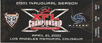 XFL FOOTBALL championship ticket million dollar game