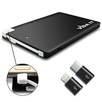 Slim 7mm Wallet Size Power Bank Charger with Micro USB and 2 Adapters For Phone