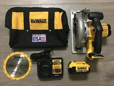 "New DeWALT DCS393 20V 6-1/2"" Circular Saw With 4.0ah XR Battery And Charger"