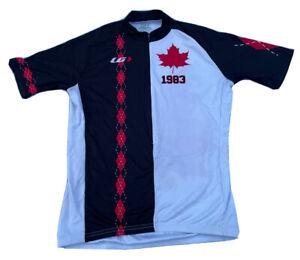 Louis Garneau Cycling Bike Jersey Shirt CANADA MAPLE LEAF 1/2 Zip Men Medium
