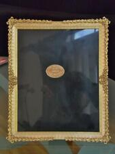 "Elias Artmetal 8""x10"" Pewter 18 KT Gold Tabletop Picture Frame Wreath of Triumph"