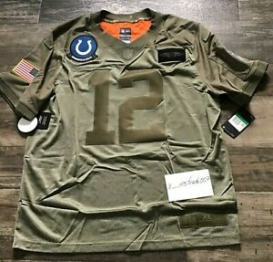 Nike Andrew Luck Salute To Service Colts #12 Jersey BQ0557-227 XL Stitched NFL