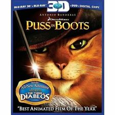 Puss in BOOTS 3d - Blu-ray Region 1