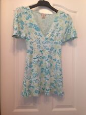 Gently Worn GUESS Jeans Blue Floral Long Sleeve Tunic Size M