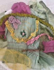 Antique Bits & Pcs Gorgeous Coloring French Silk Tulle, 1920'S Sweet Piece Silk