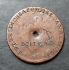Elizabeth City, North Carolina Counterstamped 1842 Large Cent