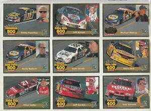 NASCAR LEGENDS MAGAZINE RACING (9) CARD GOLD 22K FOIL SET RARE