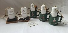 Lot of 5 Vintage Original Smores Christmas Ornaments with Tags