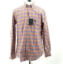 """Men's Fynch Hatton 100% Cotton Check Shirt Casual Fit Size Large 17"""" Collar New"""
