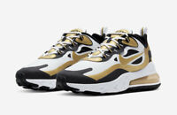 Nike Air Max 270 React Running Shoes White Gold Black Men's Sizes