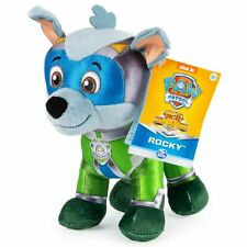Nick Jr. Paw Patrol Mighty Pups Super Paws Rocky 8-Inch Plush - New