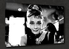 Película icónico Audrey Hepburn Pared Arte Foto Impresión de Lienzo Listo Para Colgar