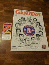 1990 NFL PROGRAM & TICKET STUB Broncos vs Steelers -Alumni Reunion 10/14/1990