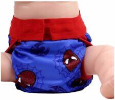 Spiderman Logo Adjustable Polyester Unisex Children's Reusable Diaper