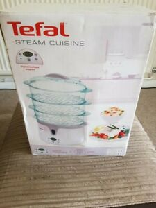 TEFAL STEAM CUISINE, 3 tier, white, electronic control panel, boxed