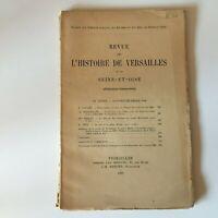 Revista Historia de Versailles Y De Sena-Oise 1926