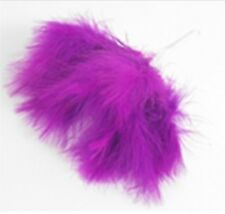 NEW Purple Wired Fluffy Feathers Fluff Bunch of 6 Feather Cake Floral Craft