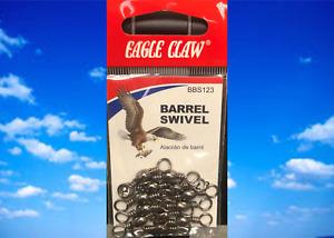 Eagle Claw, BBS123, Barrel Swivel, Qty. 10, Size 3, Fishing Supplies, Fish Sport