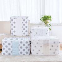 Foldable Quilt Storage Bag Clothes Blanket Closet Sweater Box Pouch Organizer US