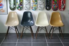 4 chaises dsw navy blue eames herman miller vintage