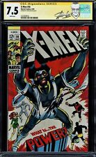 X-MEN #56 CGC 7.5 WHITE PAGES SS STAN LEE 1ST NEAL ADAMS ART IN TITLE 122763901