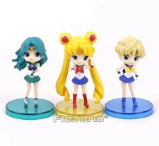 SAILOR MOON/SET 3 FIGURAS 8 CM - SAILOR, URANUS & NEPTUNE FIGURES Q POSKET  BOX