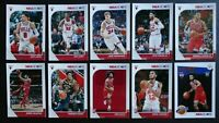 2019-20 Panini NBA Hoops Chicago Bulls Base Team Set of 10 Basketball Cards