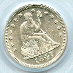 1847-O Liberty Seated Quarter, PCGS AU50