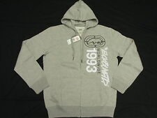 $58 NWT NEW Mens Ecko Unltd Vertical Hoodie Sweatshirt Grey Urban Size S L871