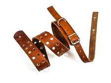 "1 3/4"" Tan Saddle Double Hole Buckle Guitar Strap"