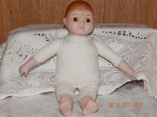 Vintage Porcelain Doll Stuffed Body Parts  Head Hands Arms Porcelain