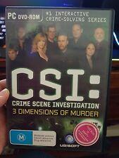 CSI: 3 Dimensions of Murder - PC GAME - FAST POST