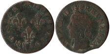 1643 (A) France Double Tournois Coin Clip Error Louis XIII KM#127.1