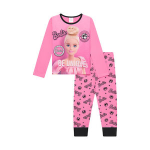 Official Girls Barbie Pyjamas Barbie Doll Set PJs 3 to 10 years Old
