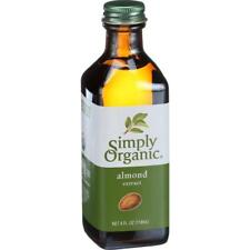Simply Organic-Almond Extract, Pack of 6 ( 4 oz bottles )