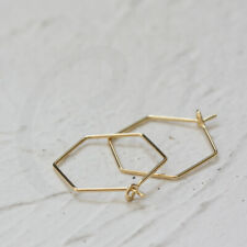 4 Pieces Gold Plated Brass Base Earring Hooks-Geometric Earring Wire (CW-4008C)