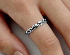 .925 Sterling Silver Ring size 10 Infinity Elephants Women Ladies Kids New p79