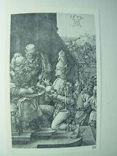 ALBRECHT DURER VINTAGE Rame incisione Pilato lavarsene le mani-PASSIONE N. 9