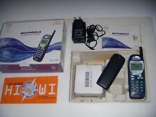 MOTOROLA M3888 BLUE GSM 1999 ESEMPLARE PARI AL NUOVO ORIGINALE+ACCESSORI SCATOLA