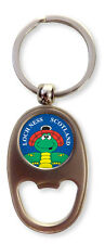 Scottish Red Hat Loch Ness Monster Scotland Oval Bottle Opener Keyring Charm