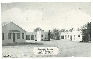 VIntage Postcard-Bennett's Courts, Hobbs, NM