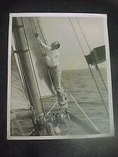 IAN HUNTER sets rigging on yacht, orig 8x10 - 1937 - DATED - Elmer Fryer photo