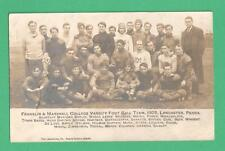 RARE 1905 RPPC POSTCARD FRANKLIN & MARSHALL VARSITY FOOTBALL TEAM LANCASTER, PA