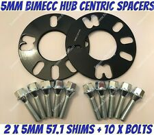 Alloy Wheel Spacers 5mm x 2 Bentley Lamborghini BS Bimecc 5x112 57.1
