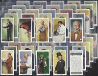 CHURCHMAN-FULL SET- IN TOWN TONIGHT (50 CARDS) TATTOOIST GEORGE BURCHETT - EXC