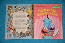 Golden Book: SESAME ST:Happy and Sad, Grouchy and Glad. #108-67 BLUE Cover.1995